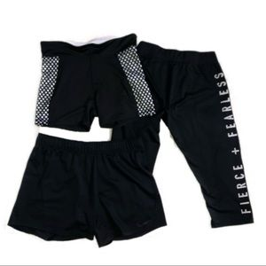 Athletic Size M Bundle; Two Pairs Shorts/One Capri